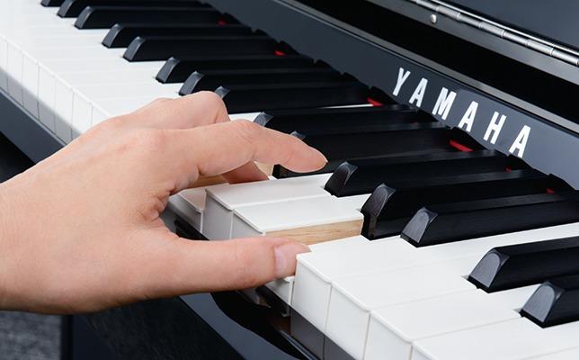 ヤマハ グランドタッチ鍵盤イメージ