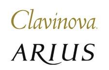 クラビノーバとアリウスのロゴ
